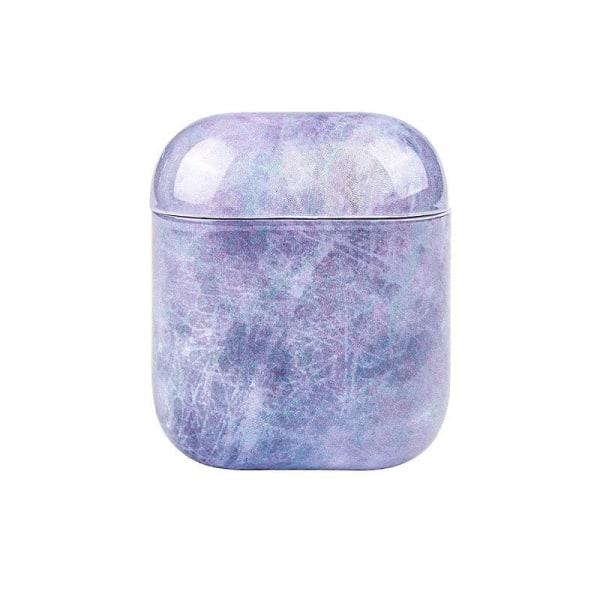 Suojakotelo AirPods - Violetti Marmori Purple