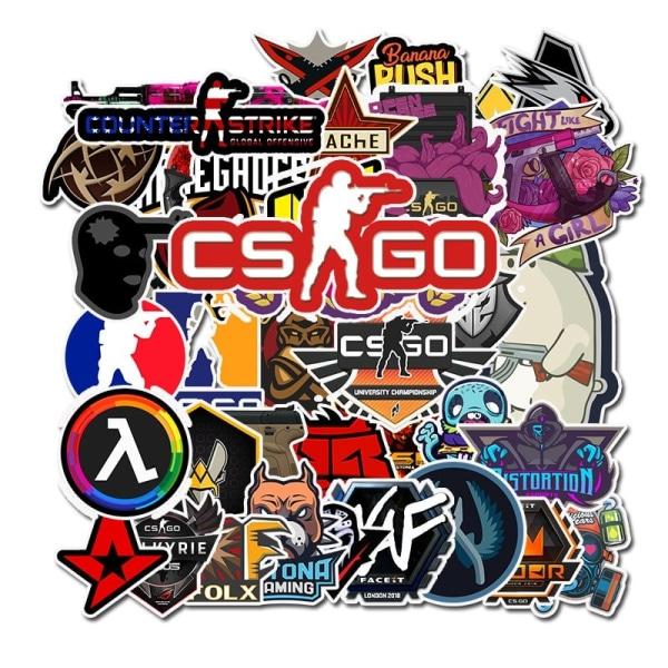 Klistermärken, 50 pack - Gaming multifärg