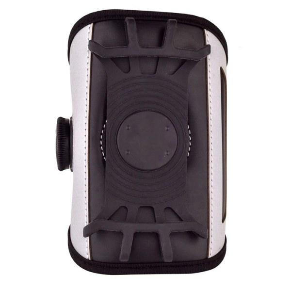 Pyörivä urheiluranneke matkapuhelimeen (12 cm puhelin) - Harmaa Grey