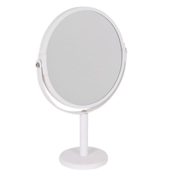 Dubbelsidig Spegel med Förstoring Vit