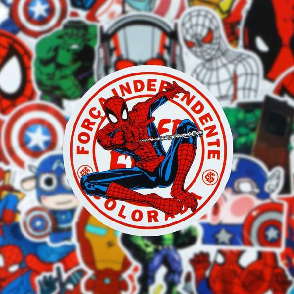 50x Klistermärken, Superhjältar - Nr. 3 multifärg
