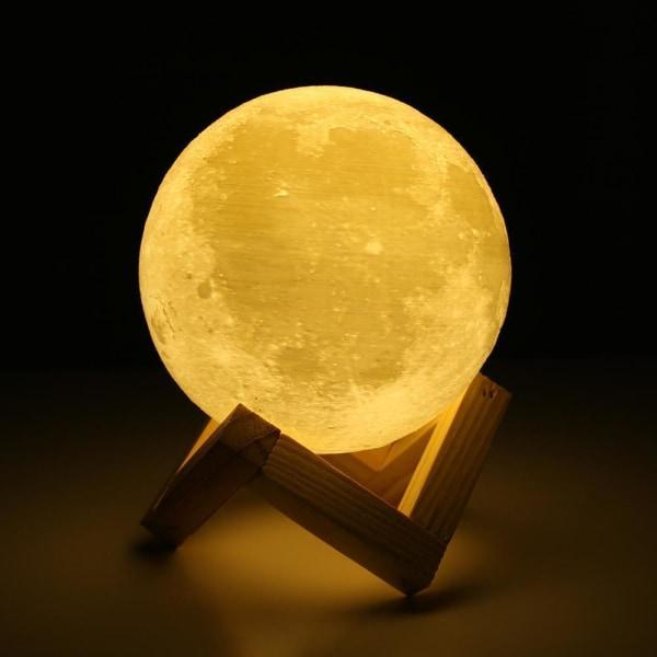 Månelampe med Fjernbetjening, 3D - 16 Farver White