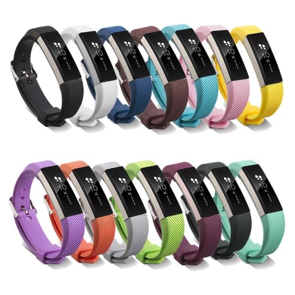 Silikonband kompatibelt med Fitbit Alta HR Black one size