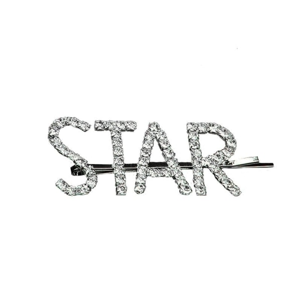 Hårnål med tekst - Star Silver