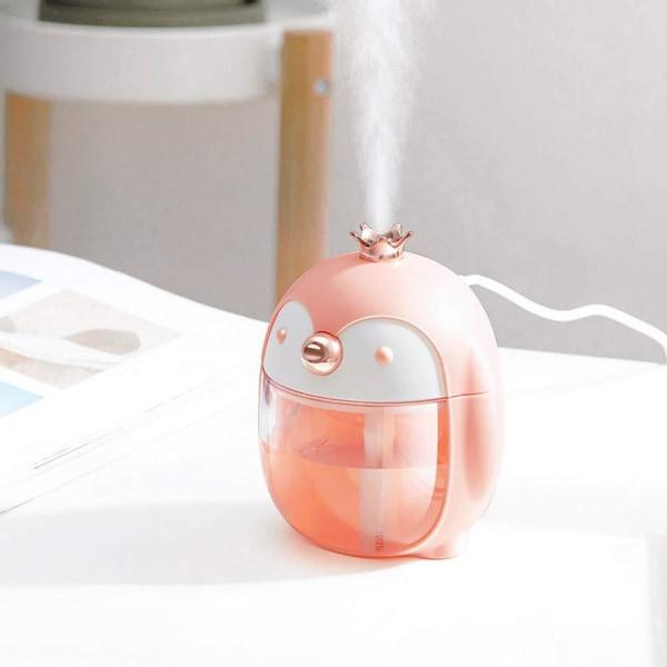 Luftfugter med Pingvin-design, 30 cl - Lyserød Pink