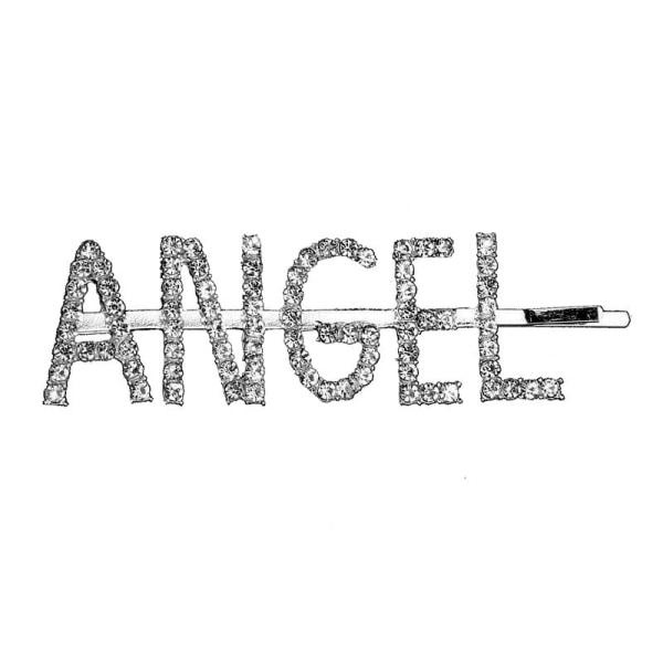 Hårnål med tekst - Angel Silver