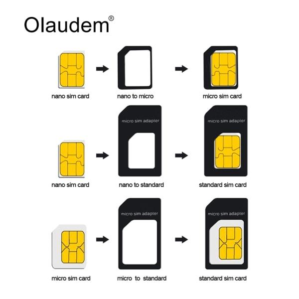 Noosy SIM-kort konverter til Nano SIM-kort White