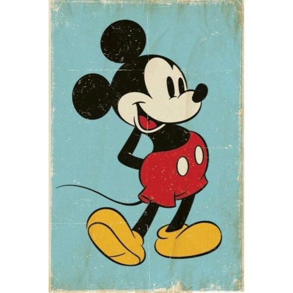 Mickey Mouse, Maxi Poster - Retro multifärg