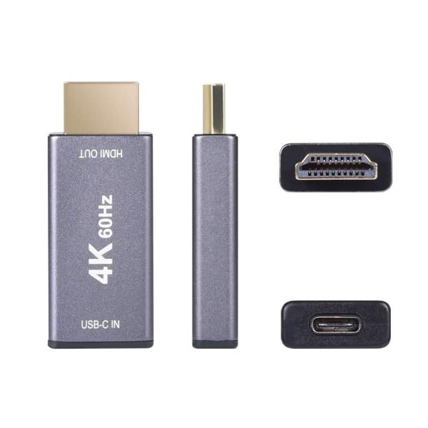 USB -C til HDMI -adapter - 4K Grey