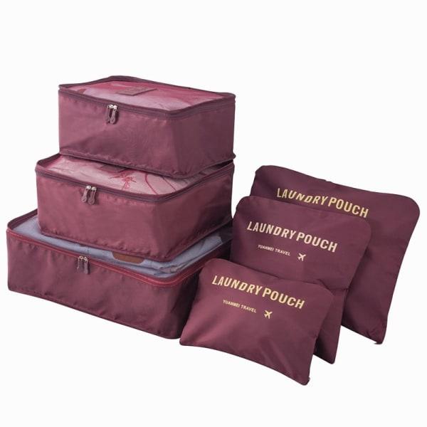 Organiseringsset för Resväskor - Mörkröd Mörkröd