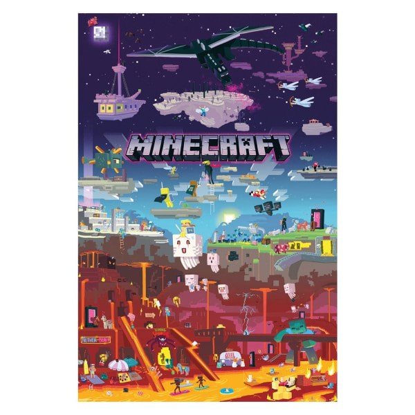 Minecraft, Maxi Poster - World Beyond multifärg