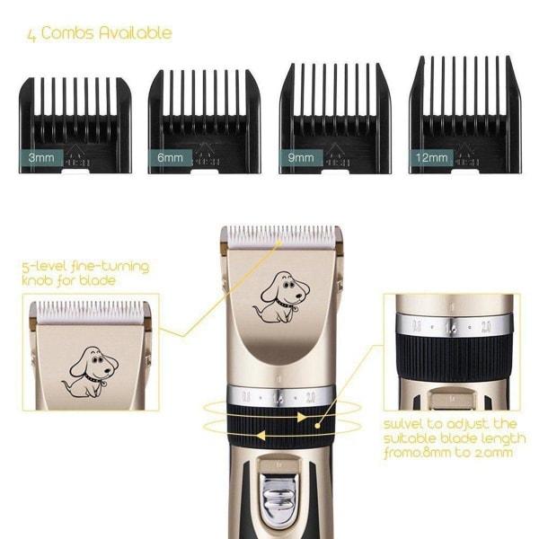 Elektrisk pälsklippare för husdjur Guld