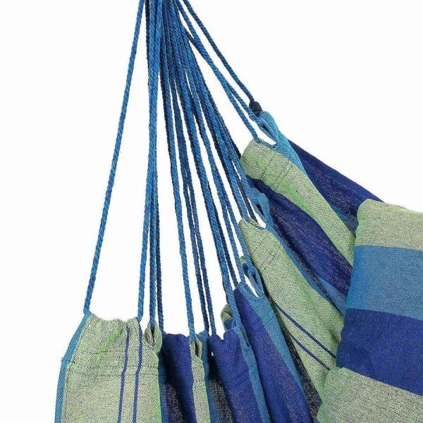 Hängmatta med Förvaringspåse, 100 x 200 cm - Blå multifärg