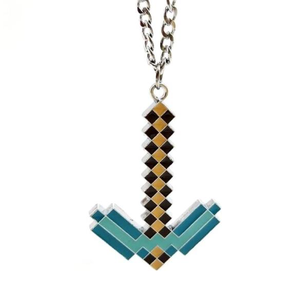 Minecraft Halsband - Diamond Pickaxe, 4 cm multifärg