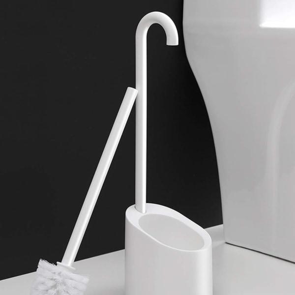 Toiletbørste med magnetisk holder White