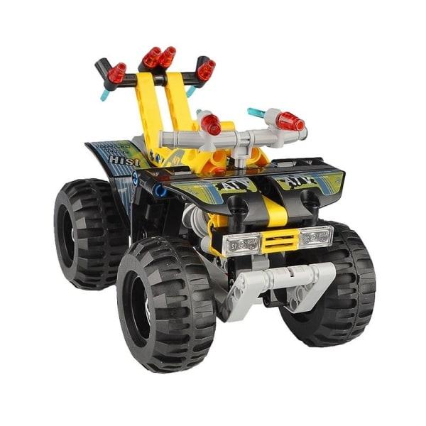 CaDFI Byggblock - Fyrhjuling med dragfunktion multifärg