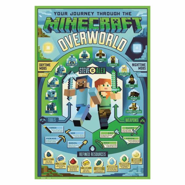 Minecraft, Maxi Poster - Overworld Biome multifärg