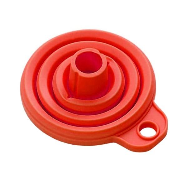 Sammenfoldelig Miniaturetragt i Silikone - Rød Red