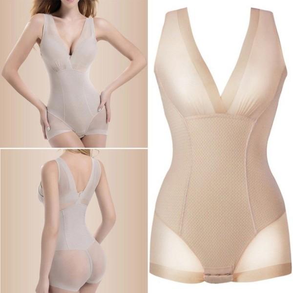 Shapewear Slankende Undertøj, Beige - Størrelse L Beige L