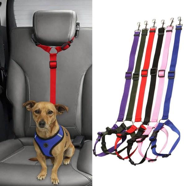Justerbart Säkerhetsbälte till Hund Svart
