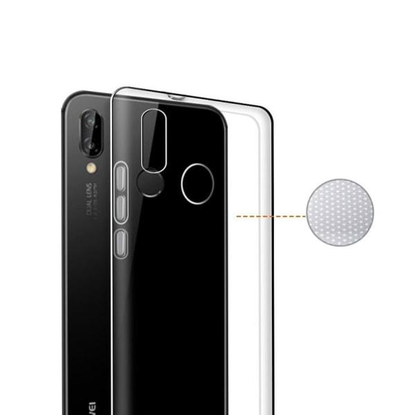 Huawei P20 Lite - Transparent silikonskal Transparent
