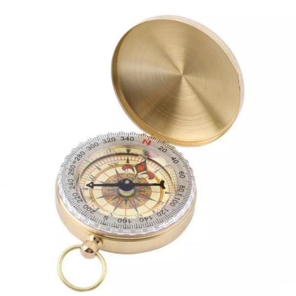 Klassisk Kompass i Mässing Guld