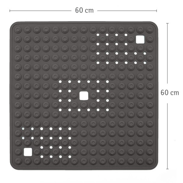 Tatkraft, detalj - fyrkantig antislipmatta - svart Svart