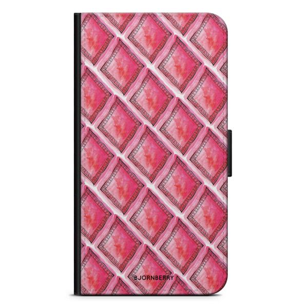Bjornberry Fodral Huawei Mate 9 Pro - Röd Rhombus