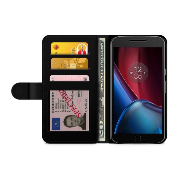 Bjornberry Fodral Motorola Moto G4/G4 Plus- Rosa Gris