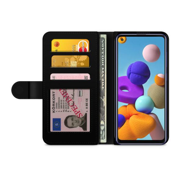 Bjornberry Fodral Samsung Galaxy A21s - Citroner Vit