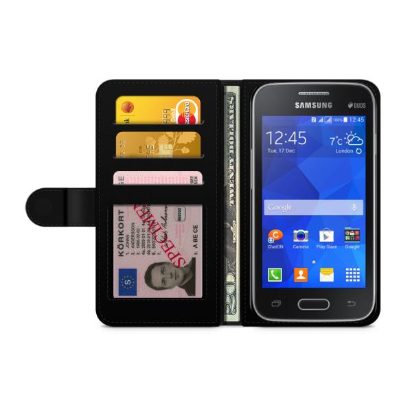 Bjornberry Fodral Samsung Galaxy Ace 4 - Blå Marmor