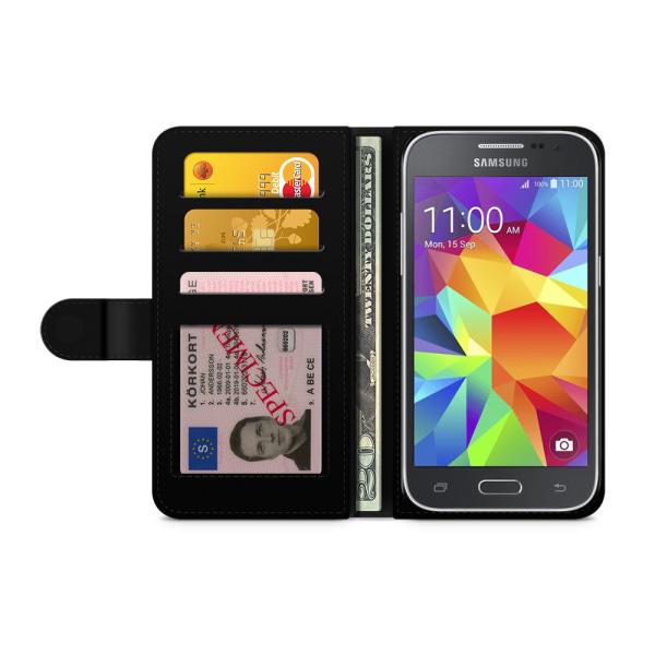 Bjornberry Fodral Samsung Galaxy Core Prime-Blommor Turkos