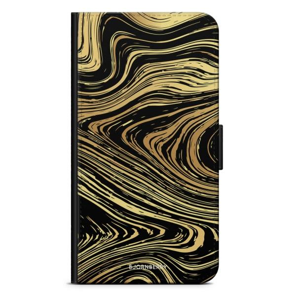 Bjornberry Fodral Samsung Galaxy J1 (2016)- Guld Marmor