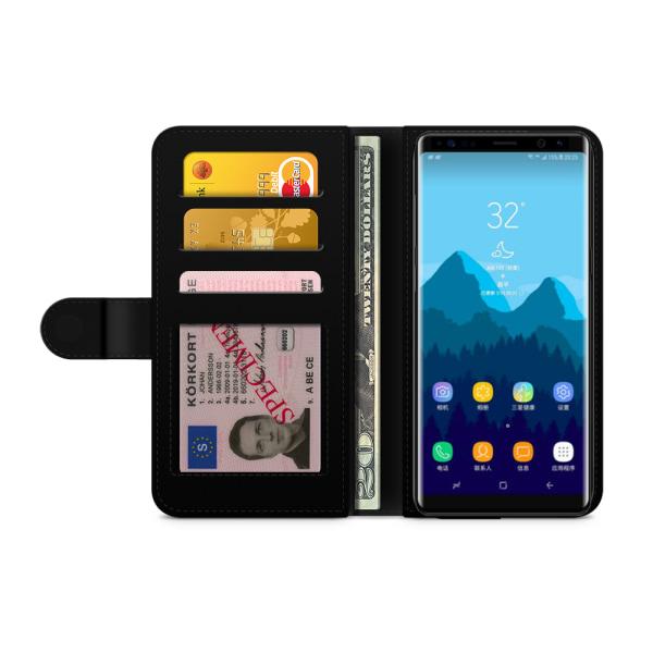 Bjornberry Fodral Samsung Galaxy Note 8 - Färgglada Blommor