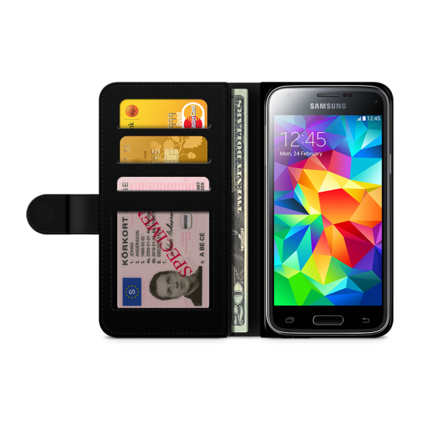 Bjornberry Fodral Samsung Galaxy S5/S5 Neo- Påfågels Mönster