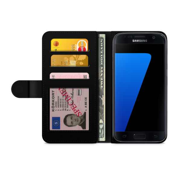 Bjornberry Fodral Samsung Galaxy S7 - Violettblommor