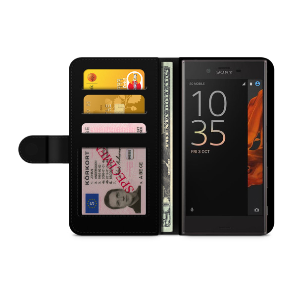 Bjornberry Fodral Sony Xperia XZ / XZs - Svart Färgstänk