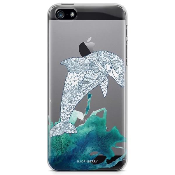 Bjornberry iPhone 5/5S/SE TPU Skal - Mandala Delfin