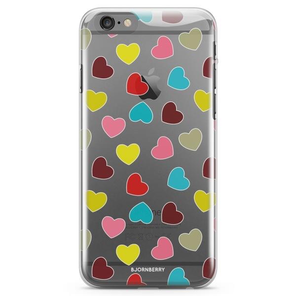Bjornberry iPhone 6 Plus/6s Plus TPU Skal - Hjärtan
