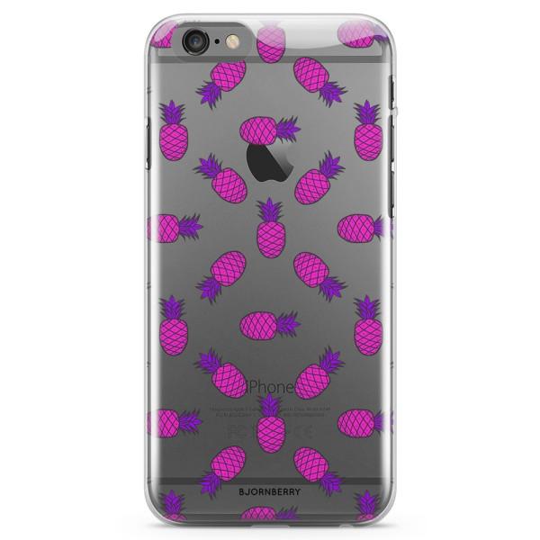 Bjornberry iPhone 6 Plus/6s Plus TPU Skal - Rosa Ananas