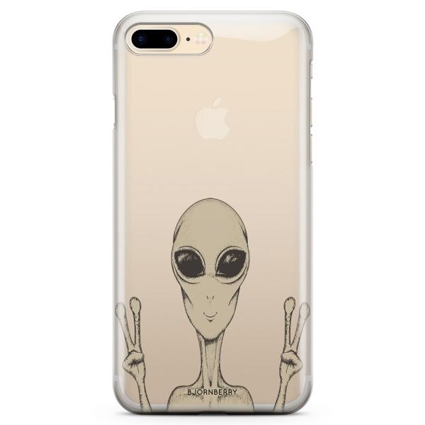 Bjornberry iPhone 8 Plus TPU Skal - Peace Alien