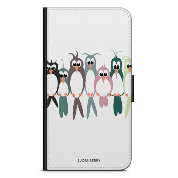 Bjornberry OnePlus 5T Plånboksfodral - Fåglar på en lina