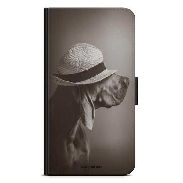 Bjornberry OnePlus 5T Plånboksfodral - Hund med Hatt