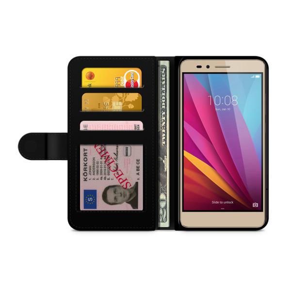 Bjornberry Plånboksfodral Huawei Honor 5X - Blå Mandala