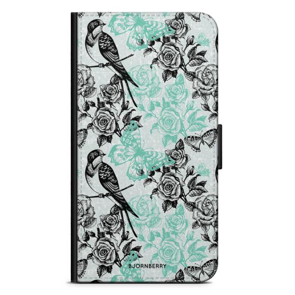 Bjornberry Plånboksfodral Huawei P10 Lite - Fåglar & Rosor