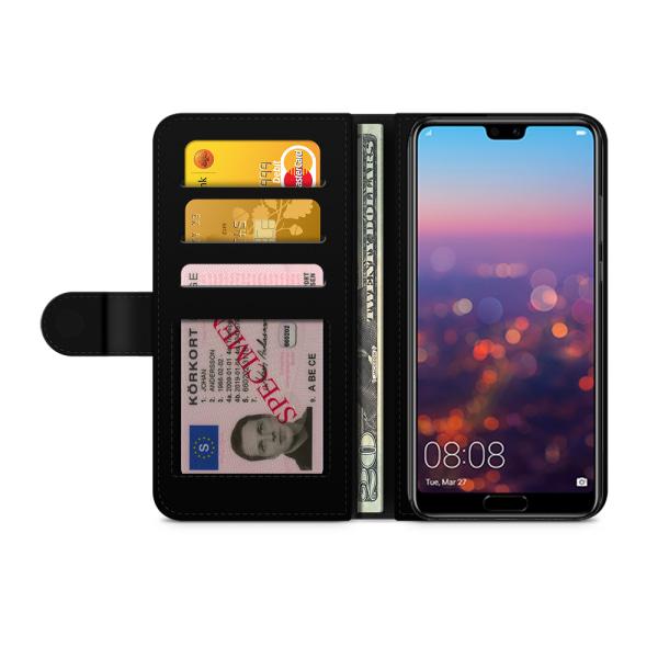 Bjornberry Plånboksfodral Huawei P20 - Ananasmönster