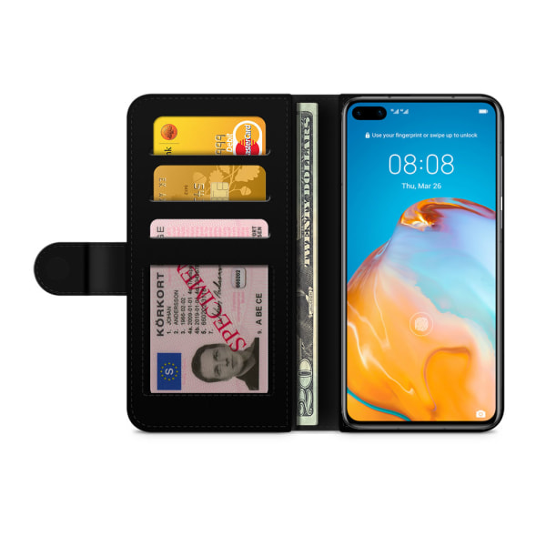 Bjornberry Plånboksfodral Huawei P40 - Grafiskt Öga