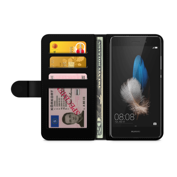 Bjornberry Plånboksfodral Huawei P8 Lite - Skräpmat