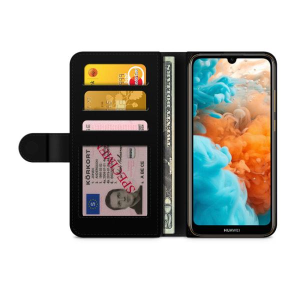 Bjornberry Plånboksfodral Huawei Y6 (2019)- Japanskt mönster