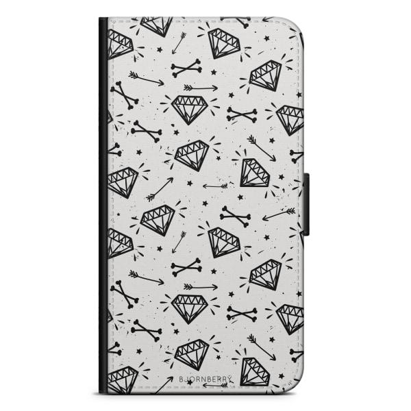 Bjornberry Plånboksfodral iPhone 5/5s/SE - Diamantmönster